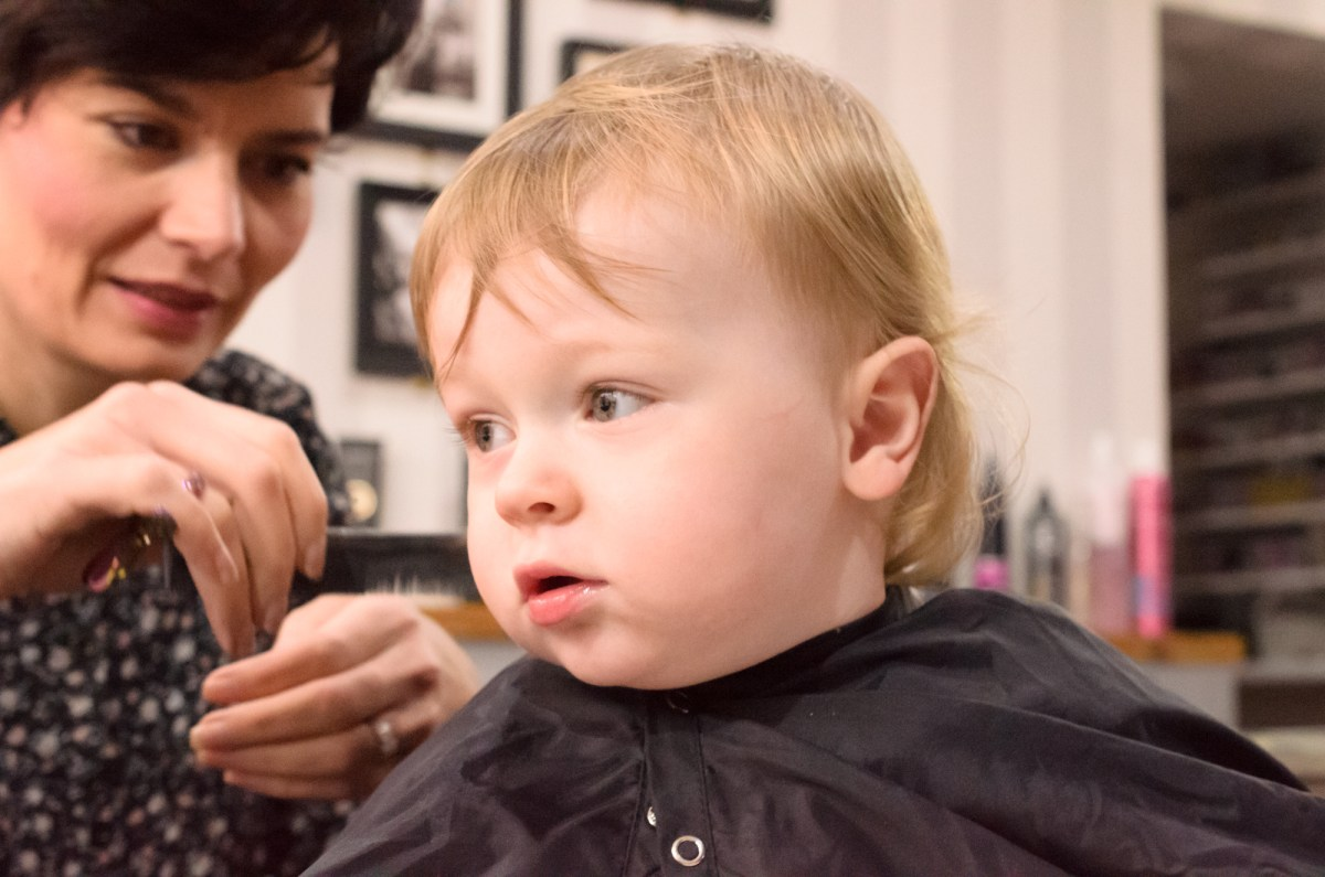 My toddler's first haircut