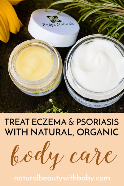 Treat dry skin and psoriasis with Ezápé Naturals organic body care. Works great for the whole family. Learn more about the brand and the products.