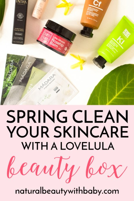 Spring clean your skincare with the April organic and natural skincare subscription box from LoveLula. Read my full review of this amazing box!