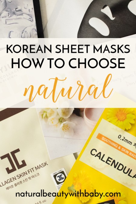 How do I choose natural when it comes to Korean sheet masks? Find out in this blog post.