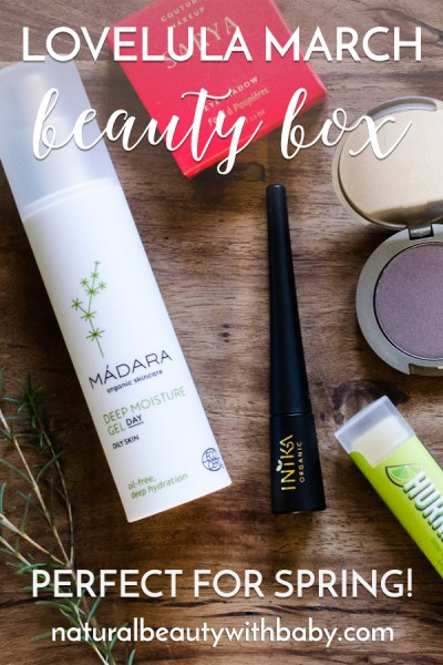 Learn my thoughts on the LoveLula March 2019 Beauty Box, a lovely mix of makeup and skincare with some great pre-summer brand intros! Read my full review of this natural subscription box. #naturalbeautybox #subscriptionbox