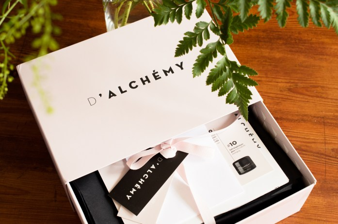 My D'Alchemy skincare box - lucky mama!
