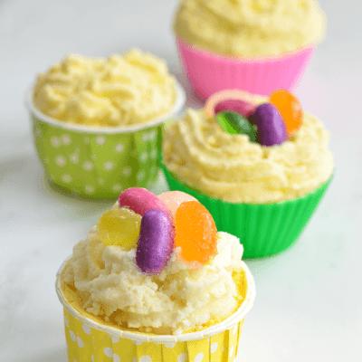 Jelly Bean Cupcake Bath Bombs