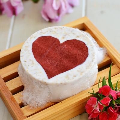 Oatmeal Honey Heart Soap Bars