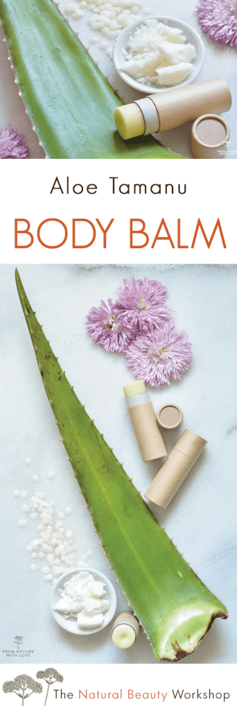 A Simple Recipe for Handmade Aloe and Tamanu Body Balm - Made with Natural Lavender, Chamomile, and Sandalwood Essential Oils