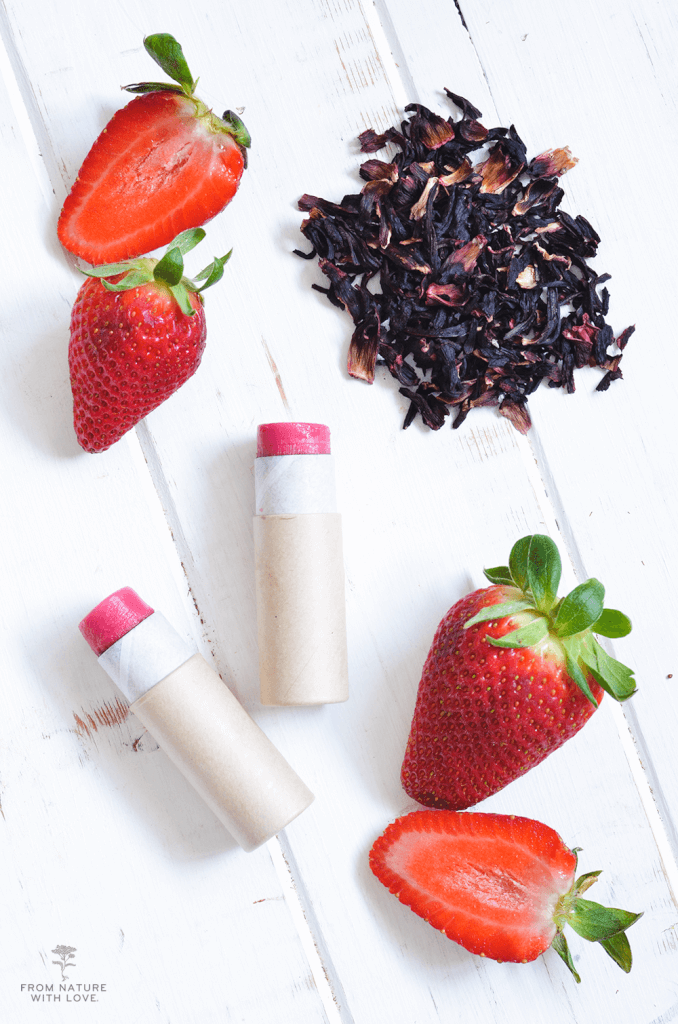 Handmade Strawberry Hibiscus Lip Balm Recipe
