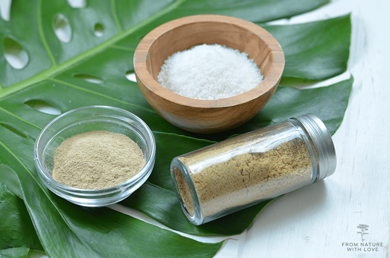 How to Make Coconut Clay Facial Scrub - a simple dry face wash made with coconut and yellow illite clay