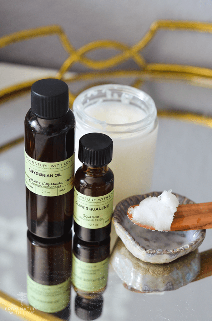 How to Make Coconut Neroli Hair Conditioning Balm - A nourishing leave-in conditioner made with virgin coconut oil