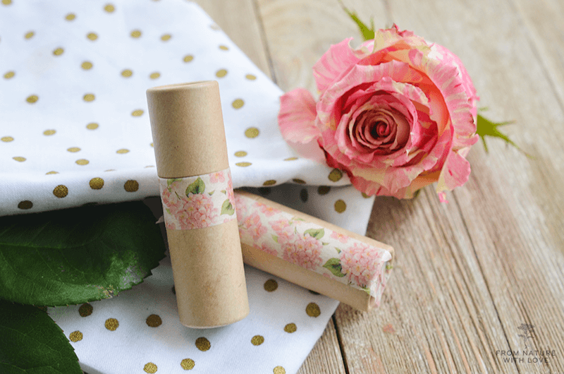 How to make Apricot Rose Lip Shimmer- a fruity and floral scented lip balm with a sheer pink tint