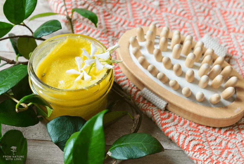 Jasmine and Shea Massage Balm - A fragrant semi-solid balm for massage
