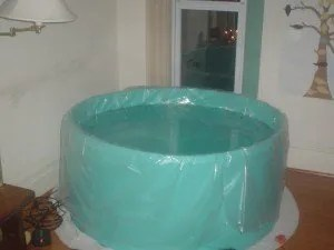 photo of the birth tub