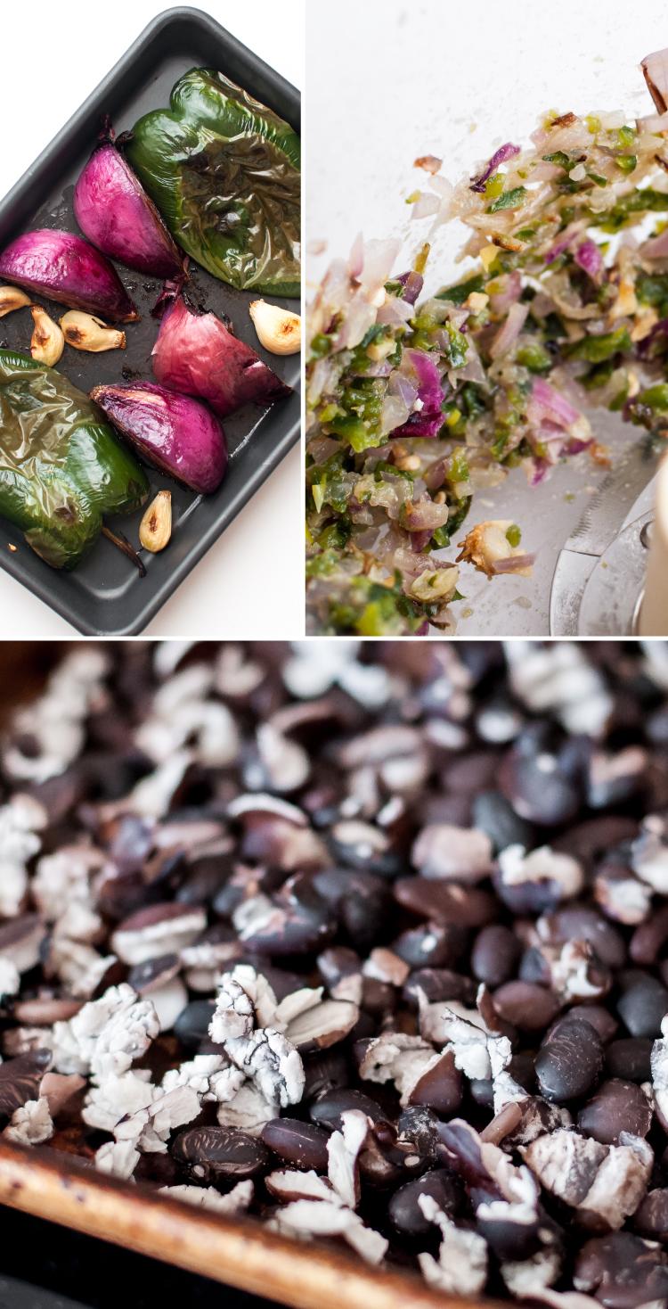 Tex-mex aromatics for BBQ black bean veggie burgers