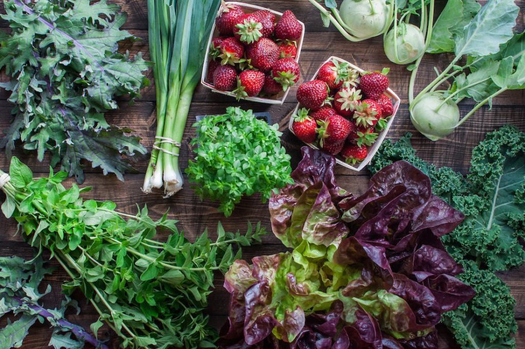 Seasonal produce recipes for the whole year