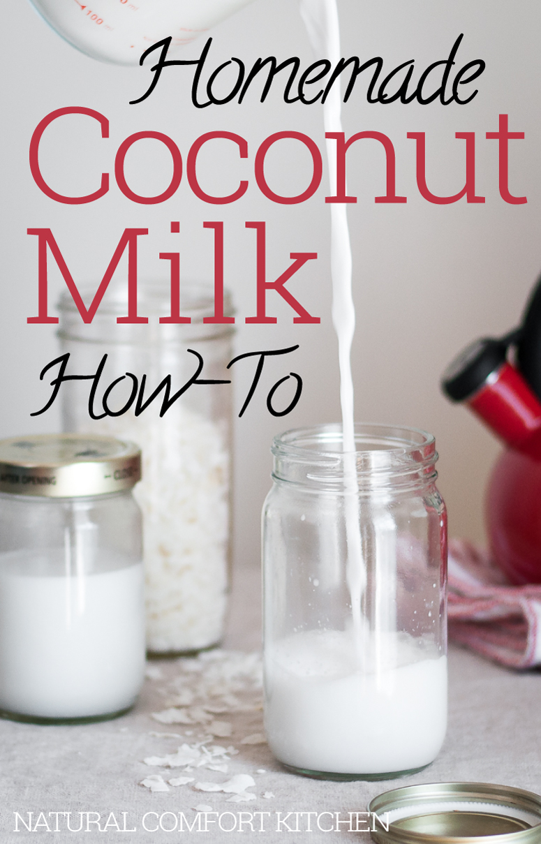 Simple homemade coconut milk recipe
