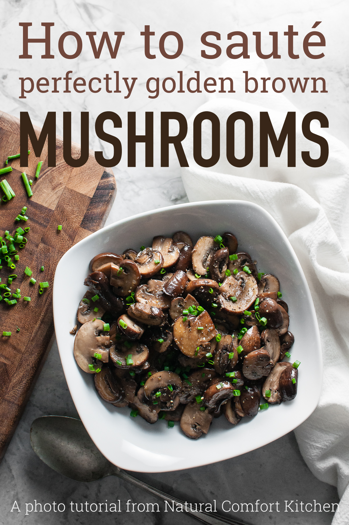 Never end up with soupy sauteed mushrooms again.