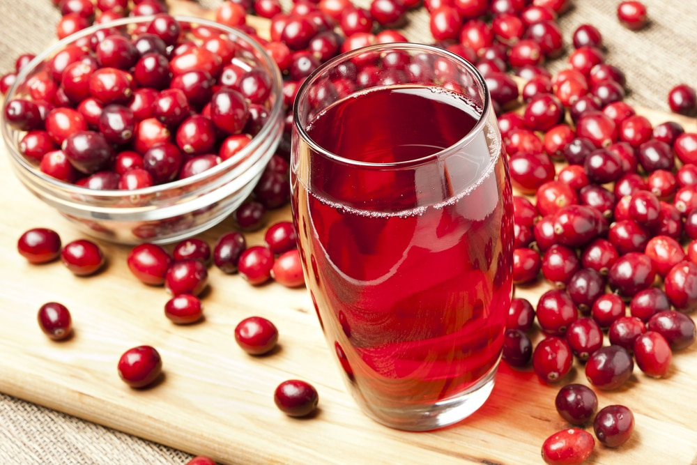 Does cranberry juice clean urine