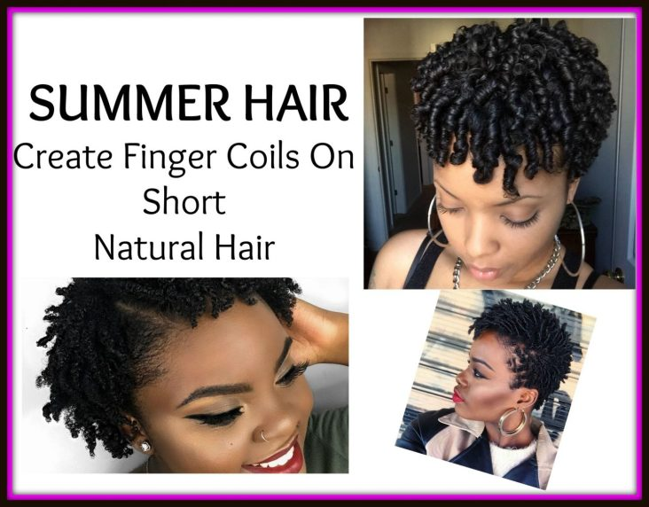 One of the best summer hair looks for 2018 when going natural is finger coils! One of the easiest and most stylish natural hairstyles to rock when going natural is finger coils and yes, they look amazing on short natural hair!