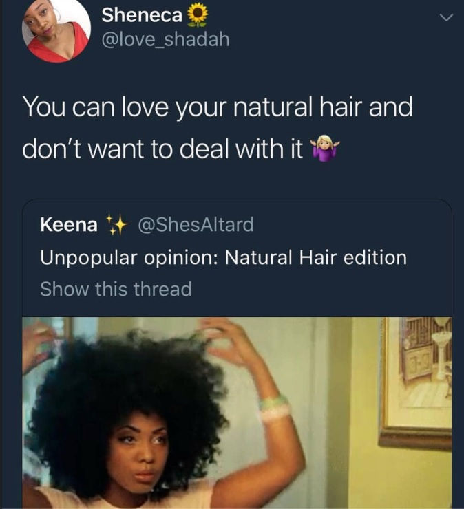 Must We Love Natural Hair All The Time? Does being natural or going natural means you will never have struggles? Some women share their experiences.