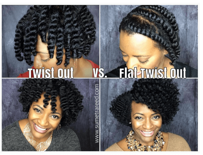 The Twist Out Vs Flat Twist Out