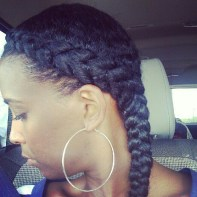 Braids are a great way to stretch natural Hair Heatless