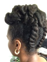 Natural Hairstyle with Flat Twist and Jumbo Twist
