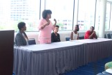 "What Happens When You Get Tired of Your Natural Hair? Am I Still Natural If..."" panel discussion. Our panel included: Tamika Fletcher, Natural Resources Salon; Dr. Paula M. Chrishon, Tendrils and Curls; Samori Diallo, The Natural Me; Alicia James, Singer and Vlogger; LaRhonda May, Naturally Supreme"