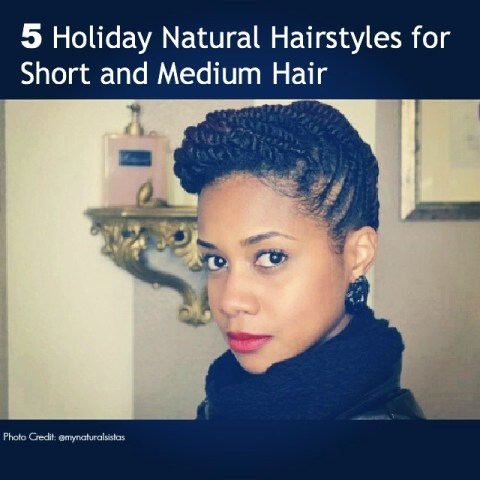 5 Natural Hair Updos for Short and Medium hair