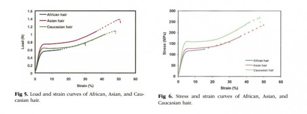 Strain Curves in Ethnic Hair