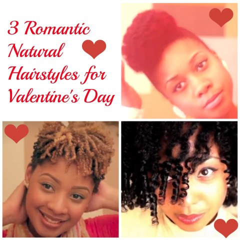 3 Romantic Natural Hairstyles for Valentine's Day
