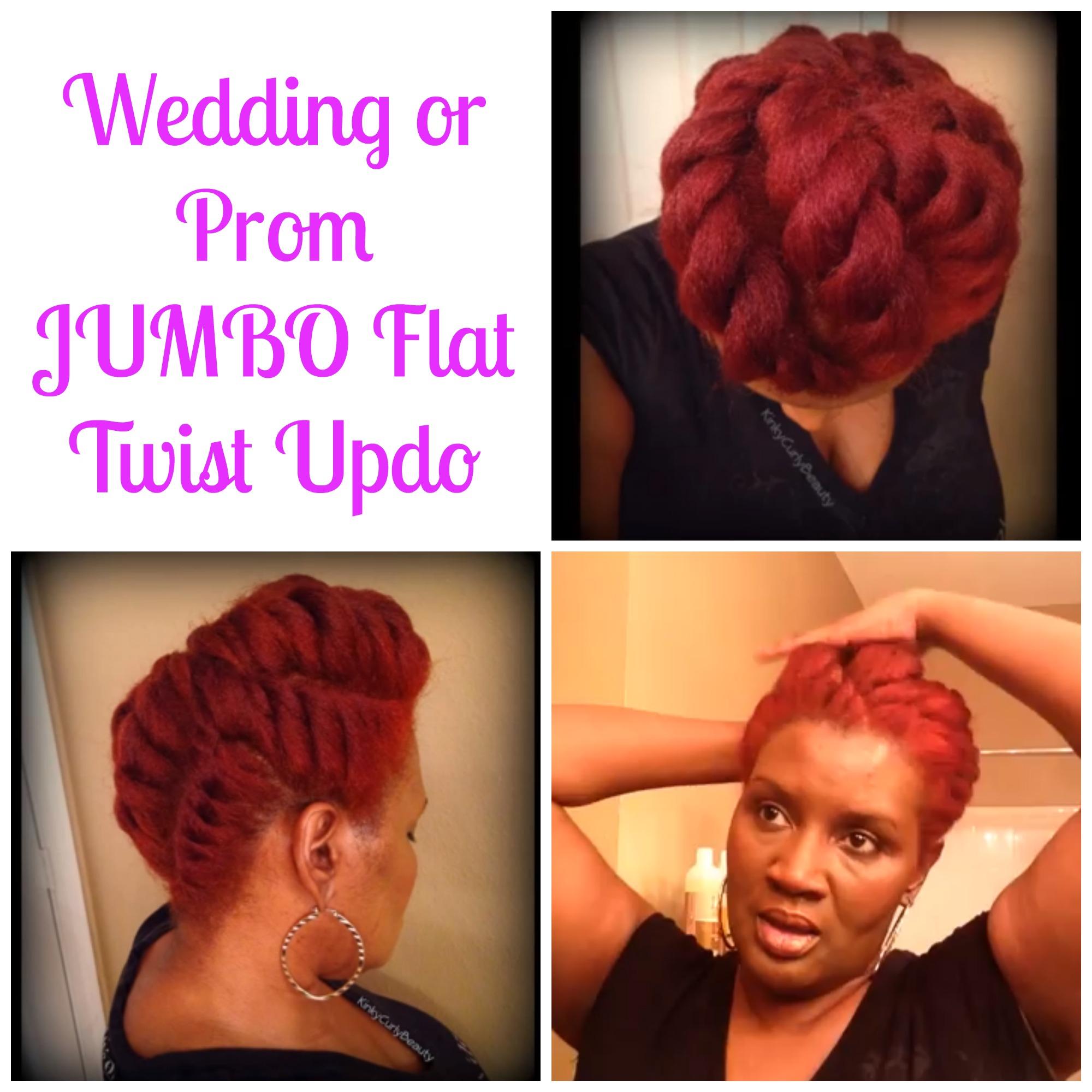 wedding prom jumbo flat twist updos