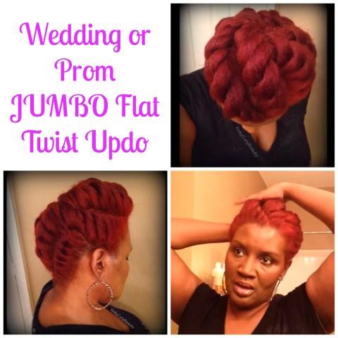 Wedding or Prom JUMBO Flat Twist Updo