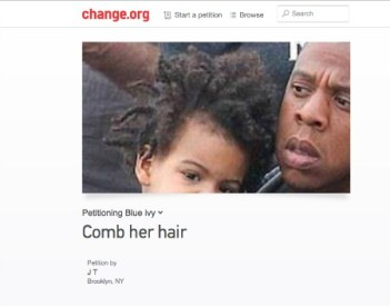 Petition To Comb Blue Ivy's Hair