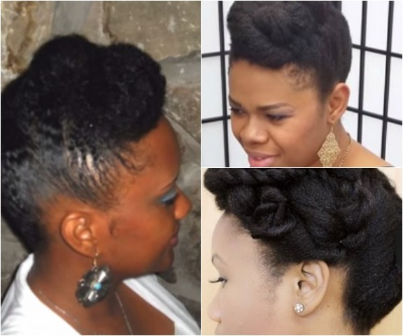 Tuck and Roll Natural Hairstyles