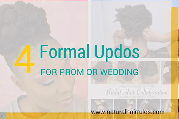 4 formal updos for prom or wedding
