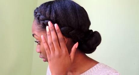 braided crown front low bun