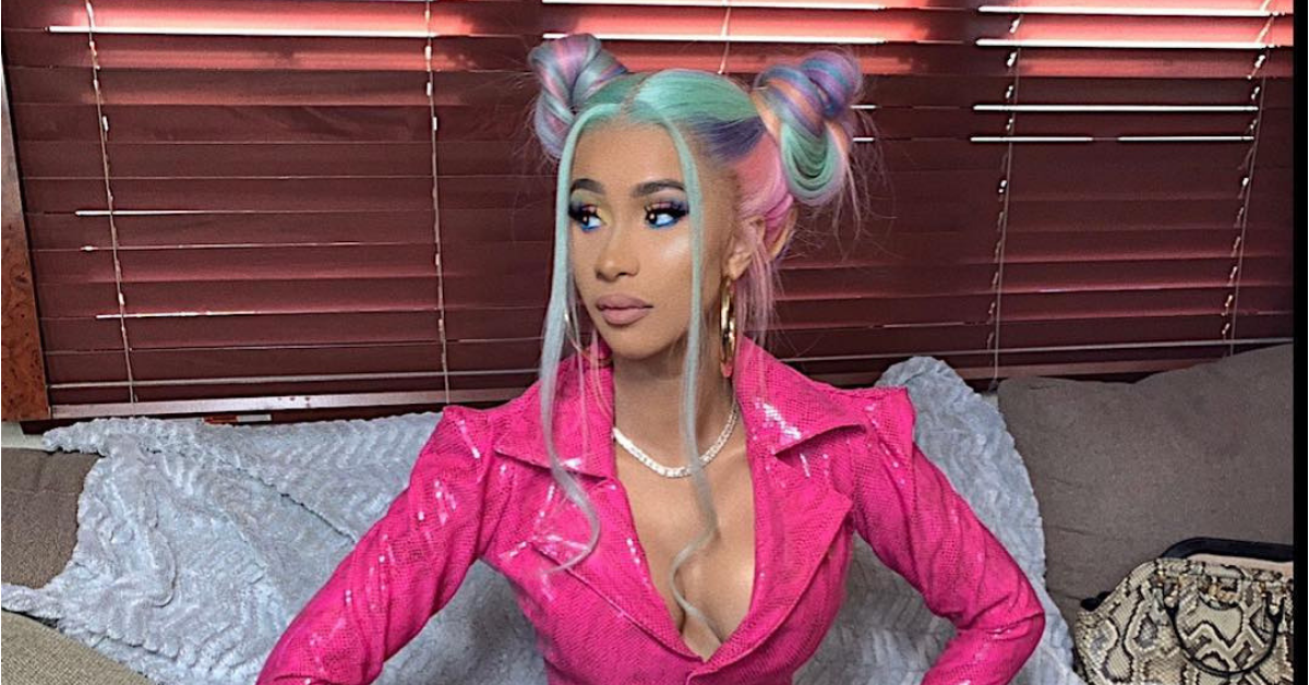Cardi B Show Off Natural Hair on Instagram