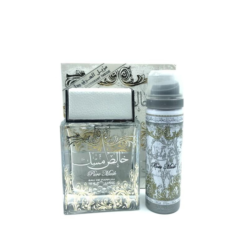 Pure Musk Eau de parfum 100ml + Déodorant 50ml – Lattafa