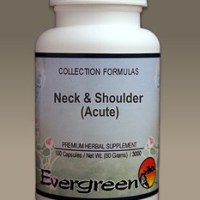 C3520 Evergreen Herbs Neck and Shoulder (Acute) Capsules 100 count Homeopathy Holistic Healthcare Natural Medicine Center Lakeland Central Florida