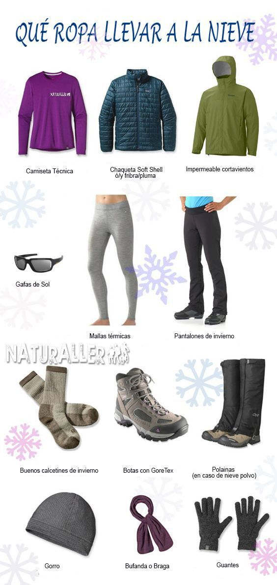 6829595dbe Qué ropa llevar a la nieve. Teoría de las 3 capas. Ropa de Invierno
