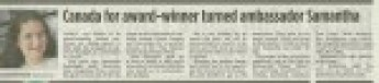2013 Samantha newspaper article
