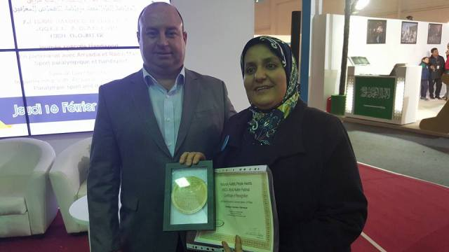 Erdal Ates presents Community Mentor INAP award 2015 in Morocco