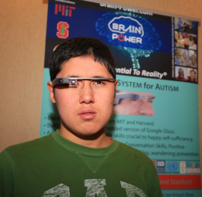Photo: Alibeck Karatay, Kazakhstan. Brain Power at ANCA World Autism Festival 2015 - Dr. Ned T. Sahin INAP AWARD Recipient