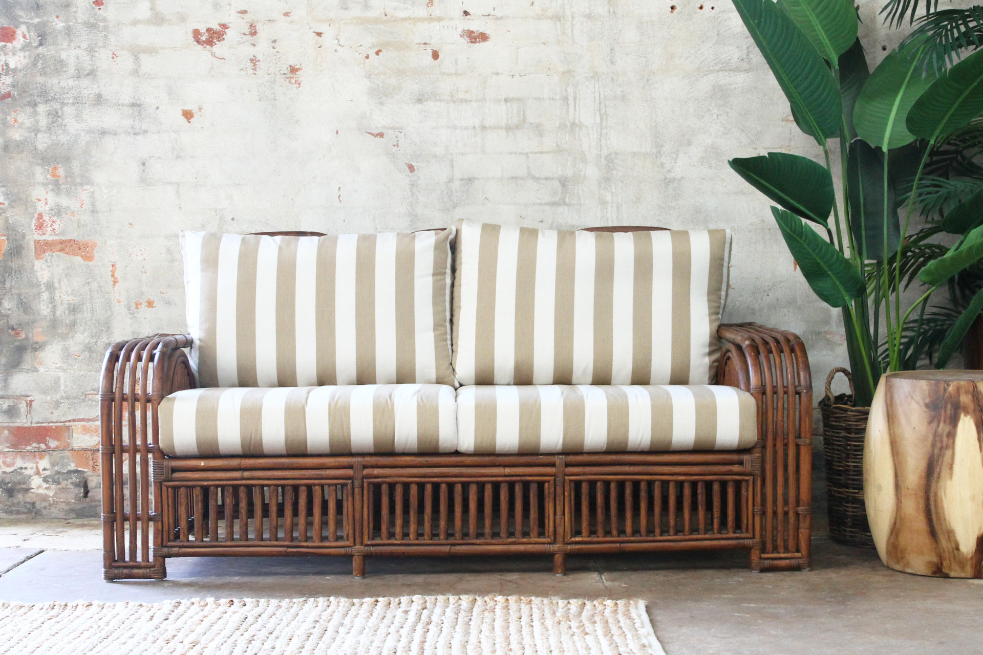 Key Largo 25 Seater Naturally Cane Rattan And Wicker