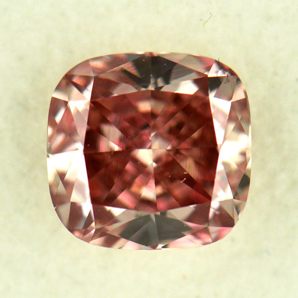 Pink Diamond Fancy Intense Orangy Pink 062 Carat VS2