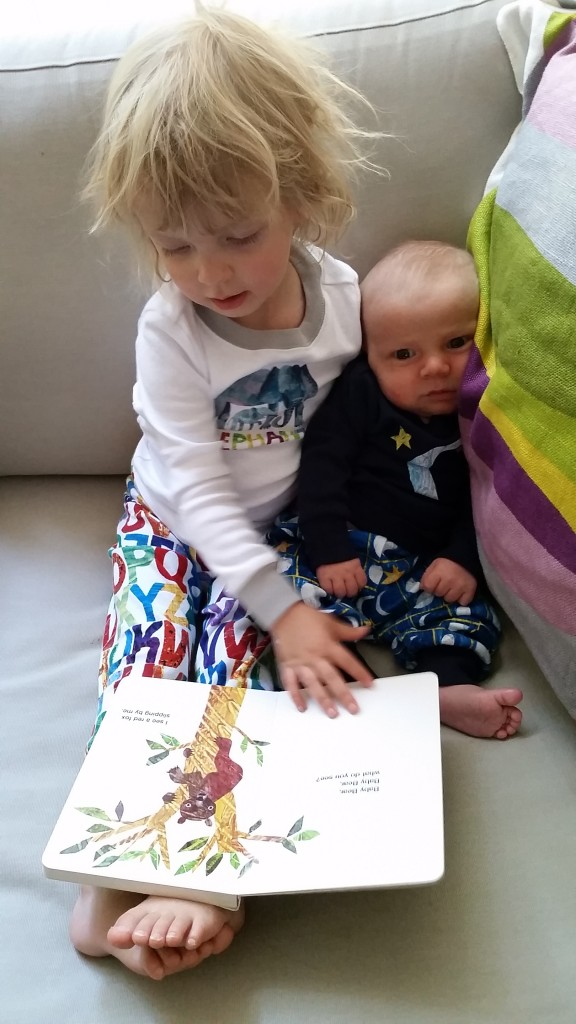 eric carle gymboree edith reading to alder