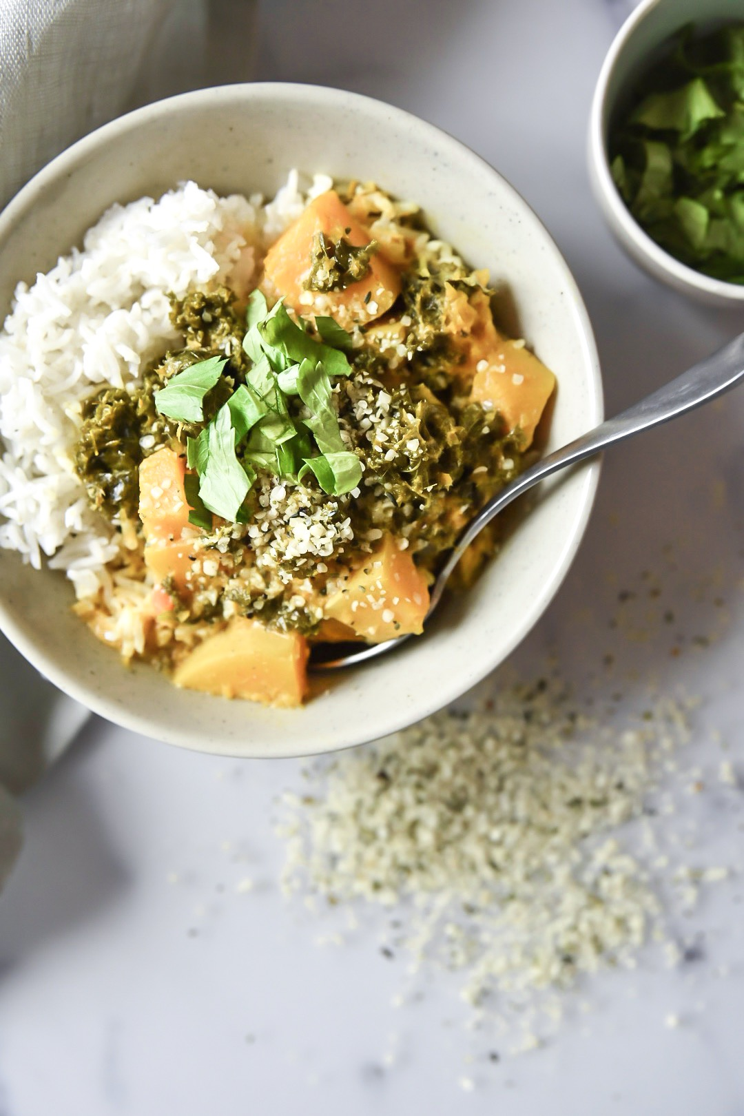 curry butternut et kale