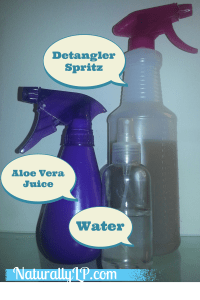 Best Natural Hair Spritz Detangler Aloe Vera Juice Water LP Share's Spritz Bottles