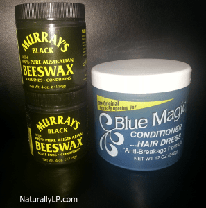 Blue Magig Conditioner Hair Dress Murray's Black Austalian Beeswax