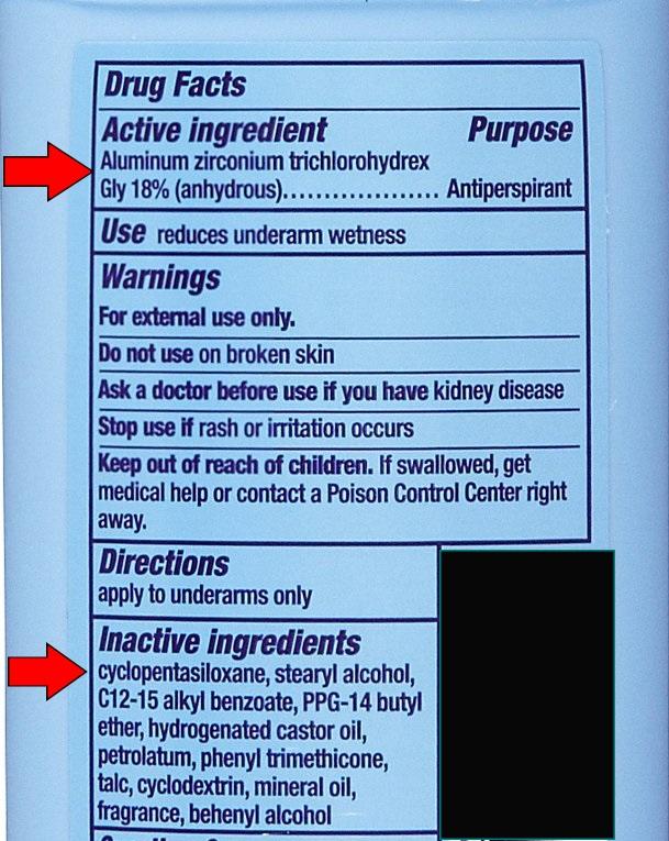 Common Deodorant Chemicals