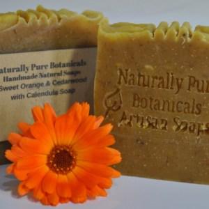 Duo-of-Sweet-Orange-Cedarwood-with-Calendula-soap